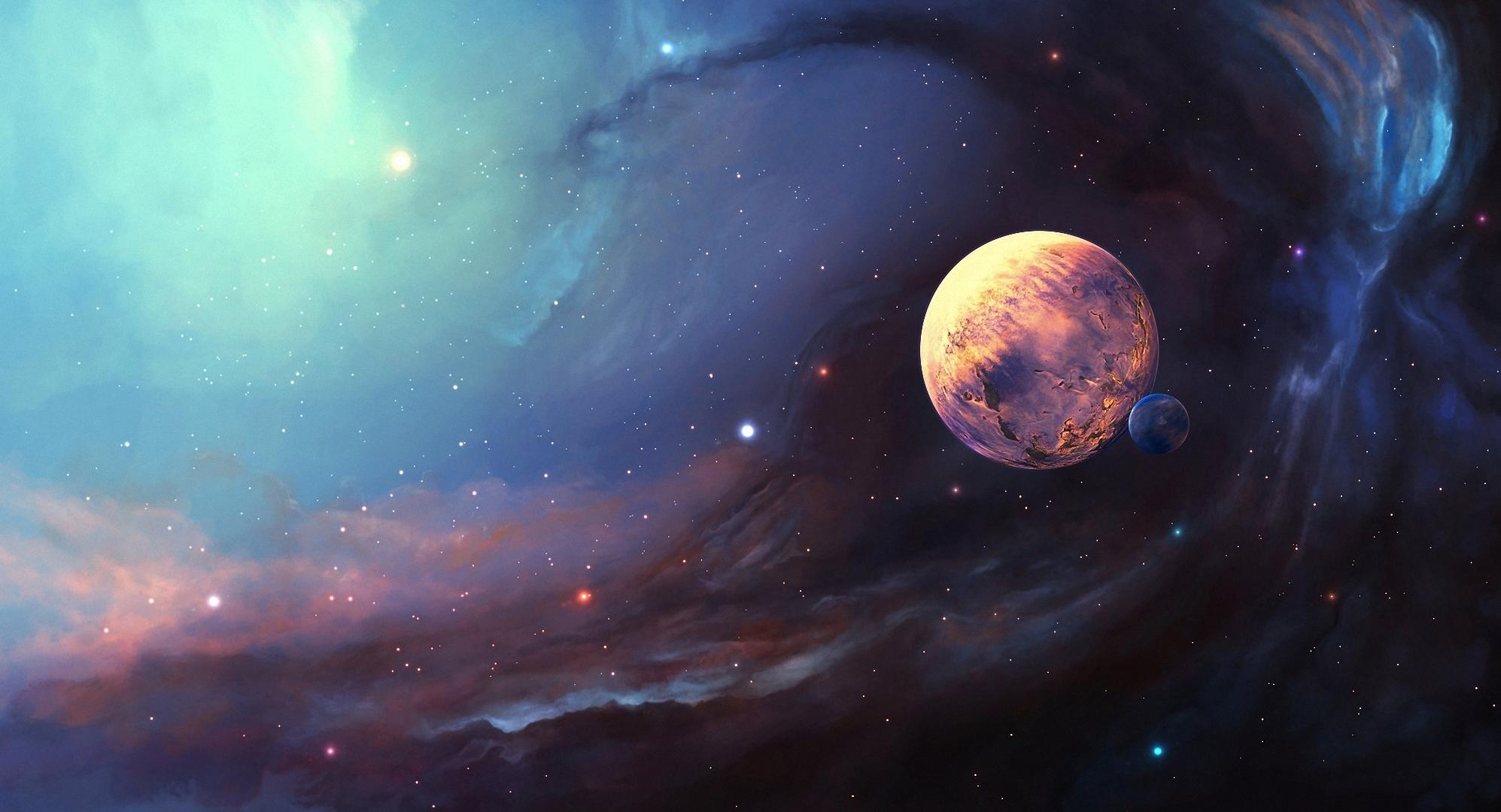 409365_art_kosmos_tumannost_planeta_sputnik_zvezdy_1995x1080_(www.GdeFon.ru)