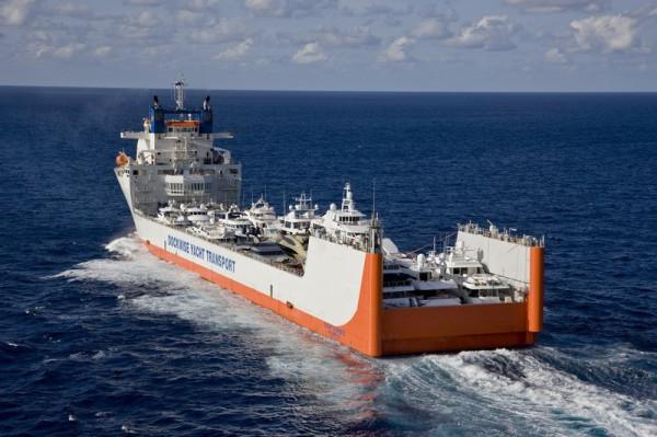 В случае полупогружных судов яхты