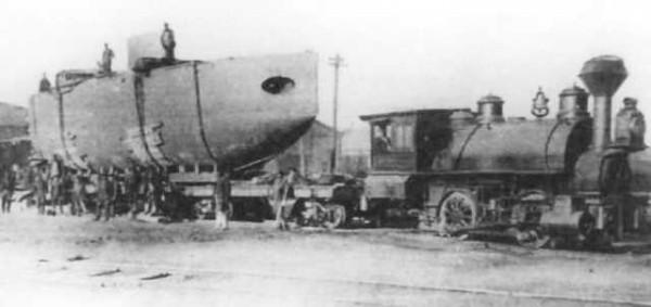 Подводная лодка Бычок в Порту Императора Александра III, 1905 г