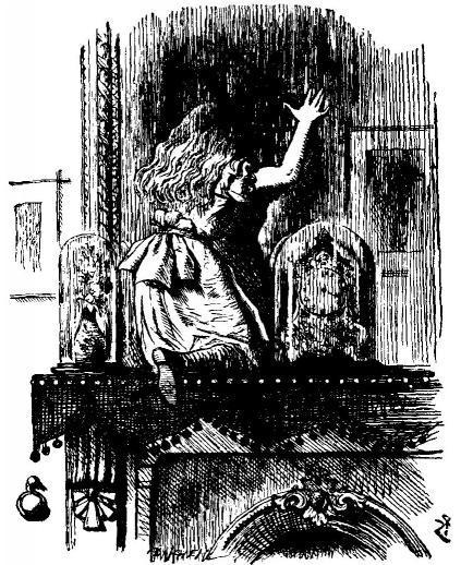 Алиса проходит сквозь зеркало