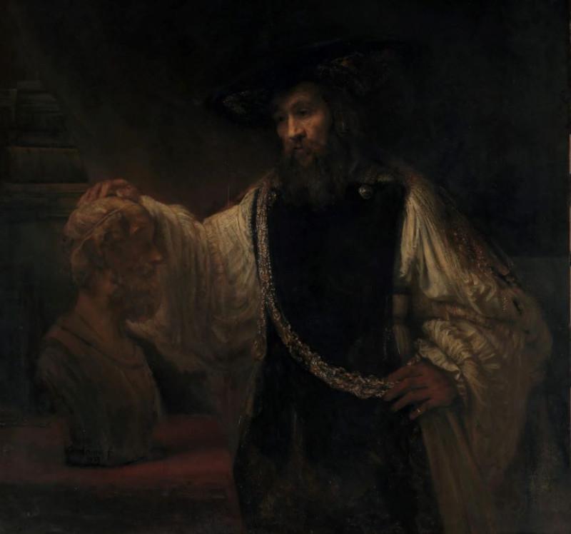 Аристотель, созерцающий бюст Гомера. Худ. Рембрандт, 1653 г.