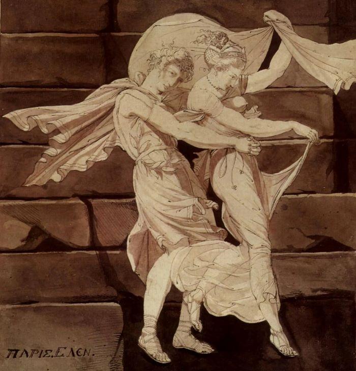 Афродита ведёт Париса к Менелаю. Худ. И. Фюссли, 1790-е гг. (?)