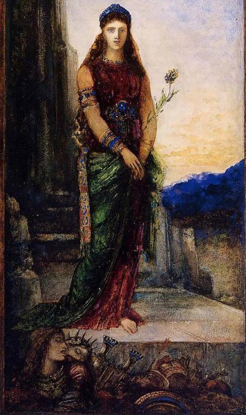 Елена у стен Трои. Худ. Г. Моро, 1885 г.