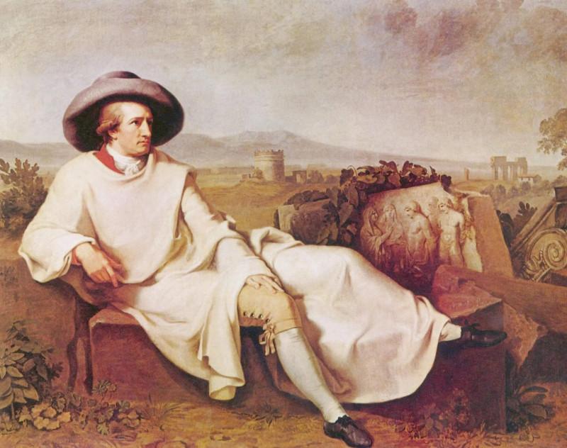 Портрет Гёте в окрестностях Рима. Худ. И. Г. Тишбейн. 1820-е гг. (?)