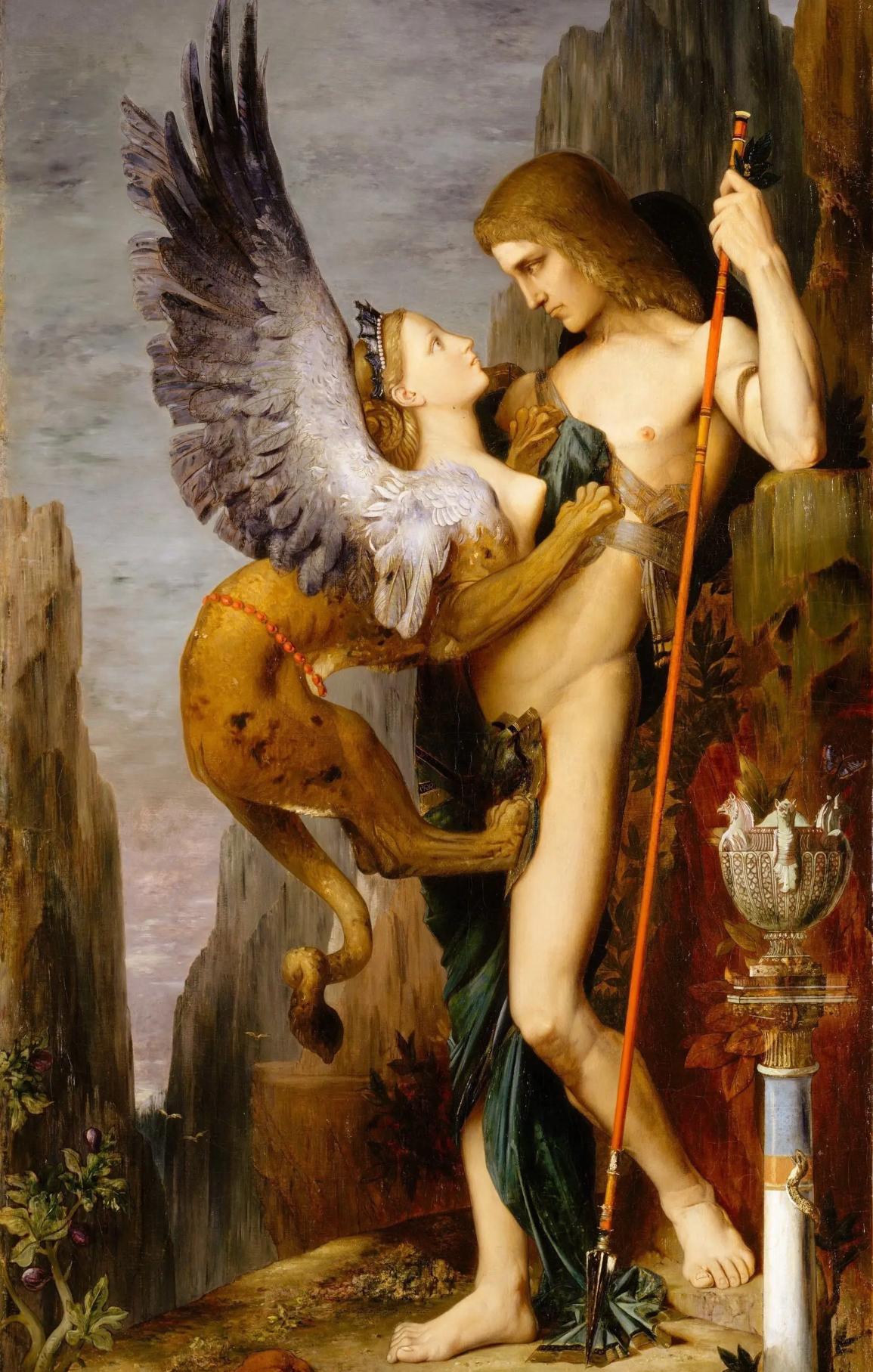 Эдип и Сфинкс. Художник Г. Моро, 1864 г.
