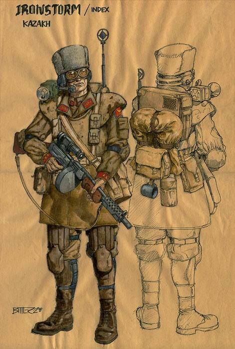 А вот элитные отряды одеты в униформу
