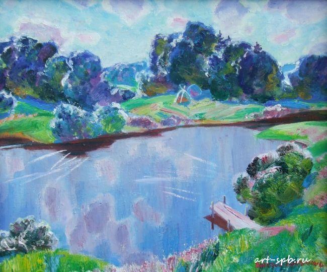 Виктор Сафронов летом на озере