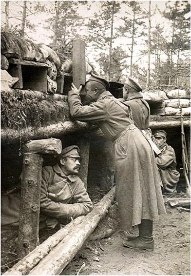 на передовых позициях в 110-м пехотном Камском полку