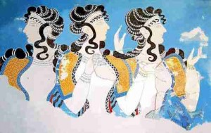 Minoan_Women_Ladies_in_Blue_Fresco_Art_500px