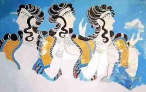 Minoan_Women_Ladies_in_Blue_Fresco_Art_500px