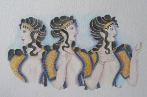 the_minoan_blue_ladies_of_knossos_by_lauragill-d5gtumy