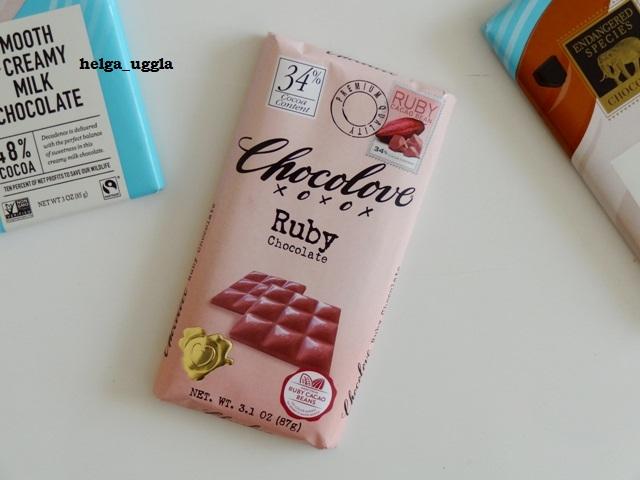 Четвертый вид шоколада - рубиновый от Chocolove