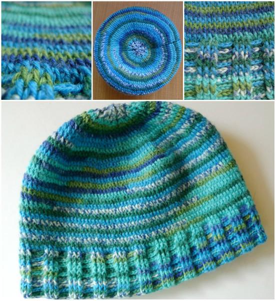 шапка из Alize крючком