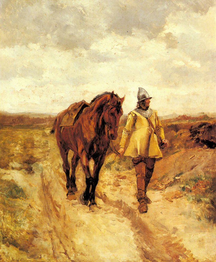 Jean-Louis-Ernest Meissonier - A Man of Arms and His Horse