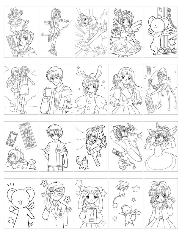 card captor sakura coloring book hellosugahs lj - Cardcaptor Sakura Coloring Pages