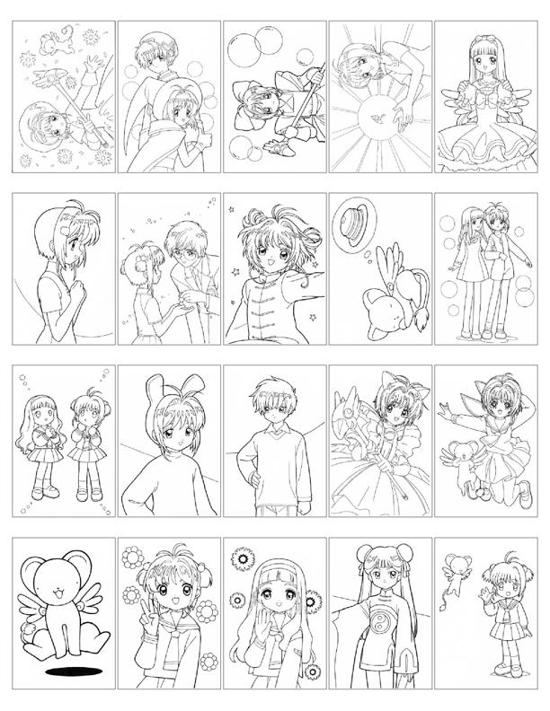 Card captor sakura coloring book hellosugah 39 s lj for Cardcaptor sakura coloring pages