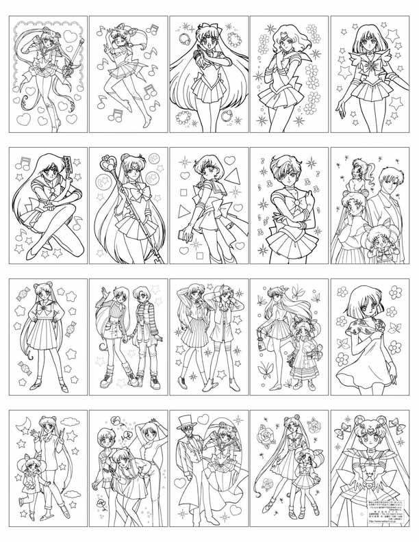 Sailor Moon World Coloring Book HelloSugahs LJ