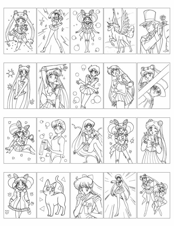 Happy Sailor Moon Coloring Page – coloring.rocks! | 792x612