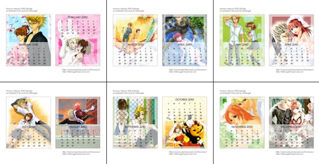 2010 Eyehshield 21 HiruMamo Calendar