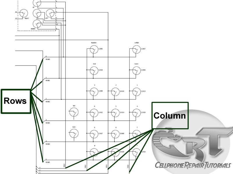Схема подключения клавиатуры сотового телефона