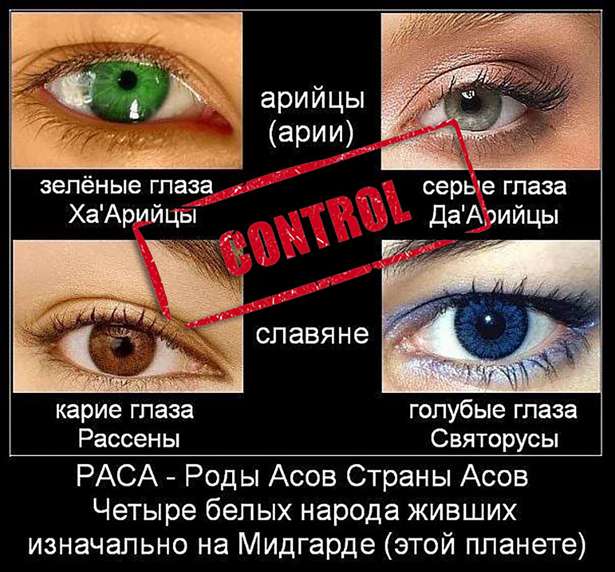Национальность по цвету волос и глаз