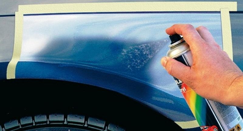 Покраска царапины на машине