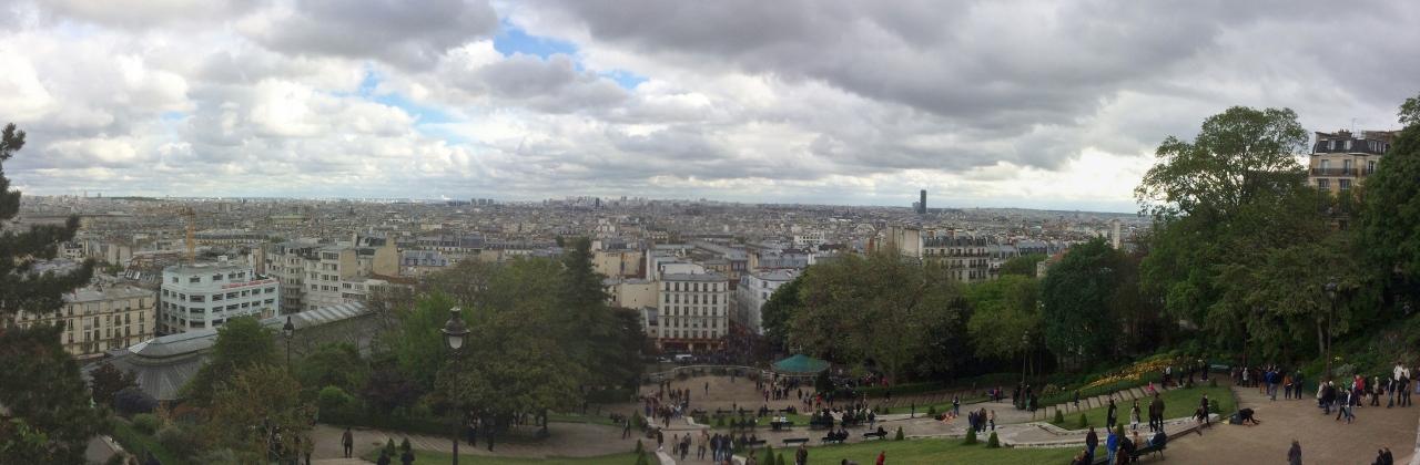 Панорама с Монмартра