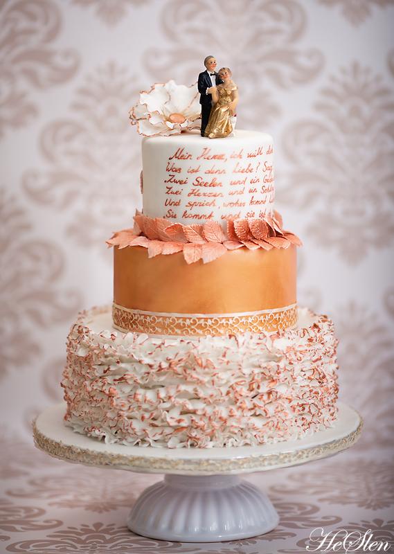 Торты.золотая свадьба.фото