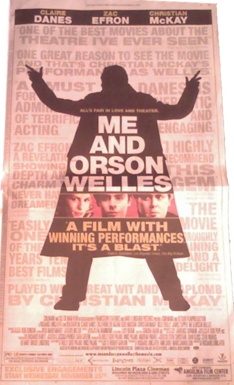 NY Times Ad for Zac Efron's Me and Orson Welles
