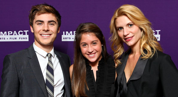 Zac Efron and Claire Danes with a fan in Washington DC!