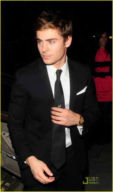 Zac Efron leaving the Me and Orson Welles premiere after-party