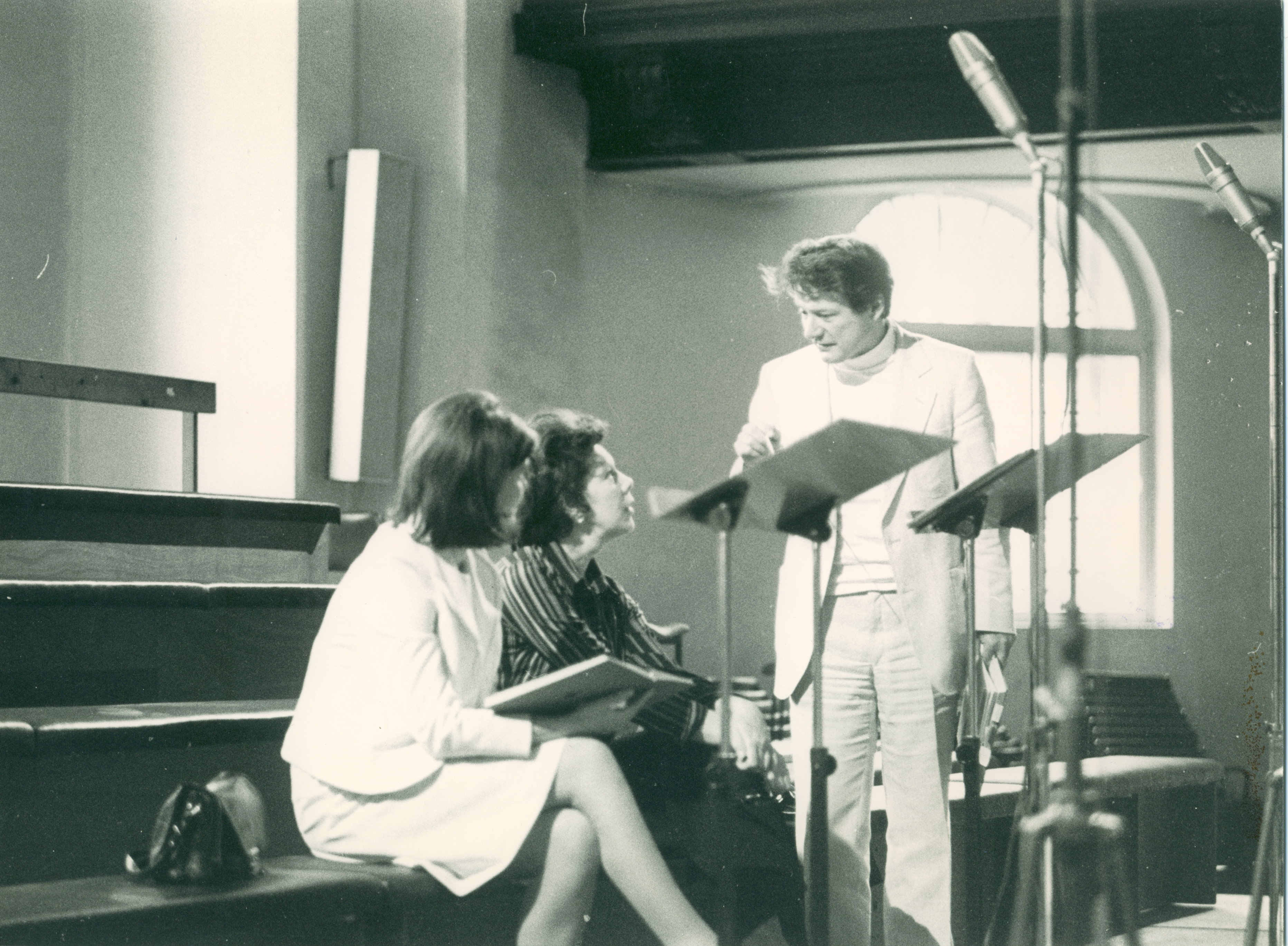 Sir Neville Marriner with Dame Janet Baker and Margaret Marshall