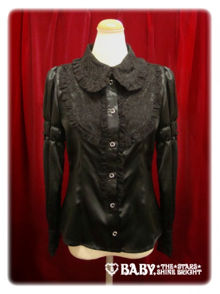 LaceCollarBlouse-black