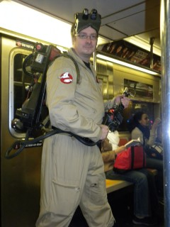 Ghostbuster on a train!