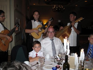 Dad and William w/the Mariachi band