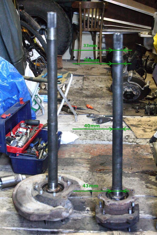 H233 rear shafts