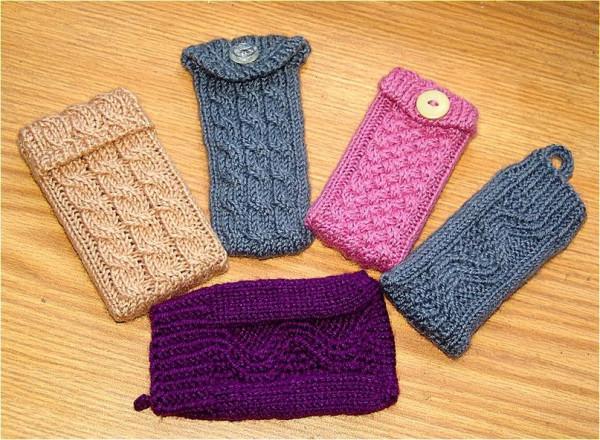 Вязание спицами чехлы для телефона