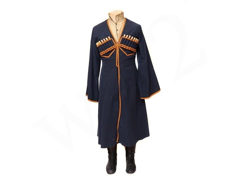 униформа казака в синей черкеске