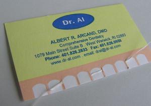 визитка дантиста 3