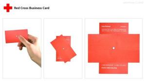 визитка красный крест