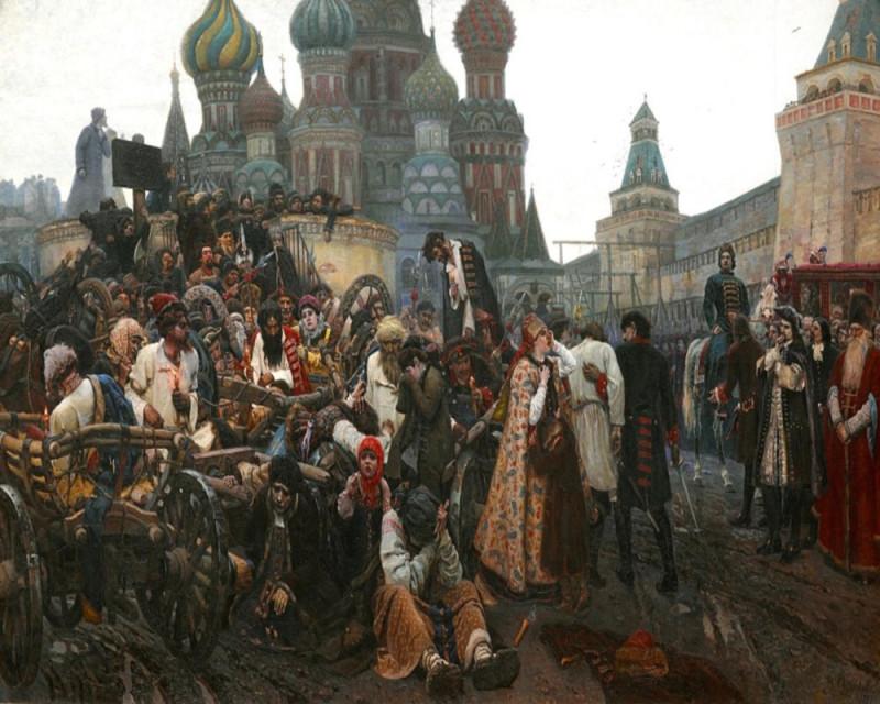 В. И. Суриков «Утро стрелецкой казни»