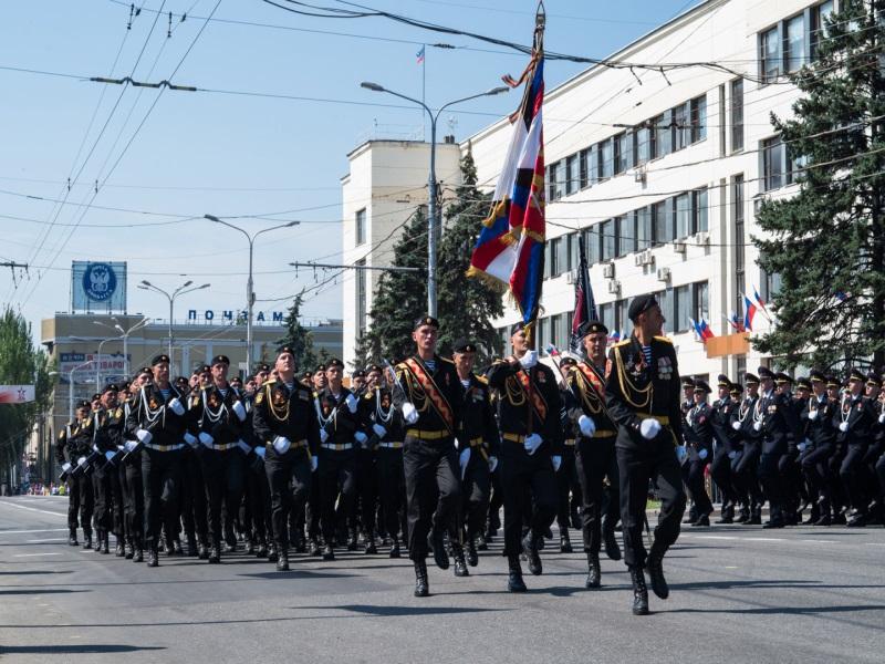 Парад Победы в Донецке 9 мая 2020 года