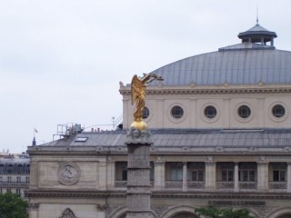 sight from the terrace of Theatre du Chatelet
