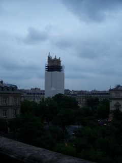 sight from the terrace of Theatre du Chatelet : tour Saint-Jacques