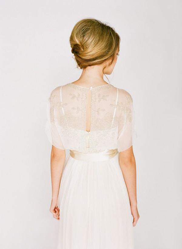 собранные волосы свадебная прическа