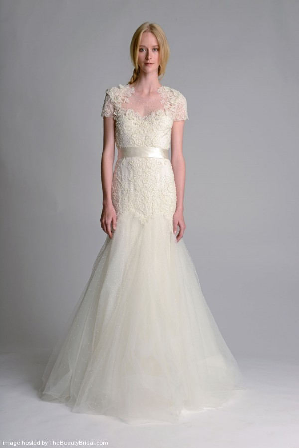Marchesa-Fall-2014-Embroidered-Trumpet-Bridal-Gown
