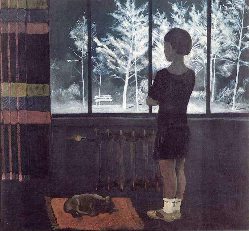Андрей Дайнека - Зима. Девочка у окна. (1931)