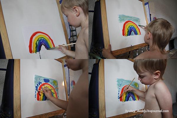 радуга-рисунок