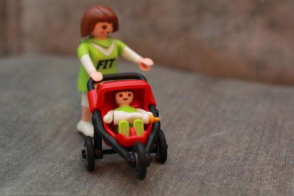 playmobil прогулочная коляска