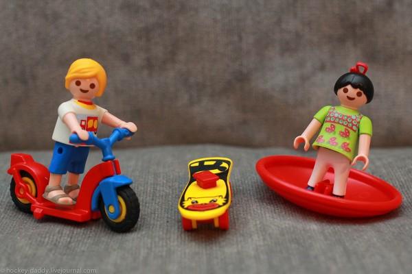 playmobil подростки со спортинвентарем